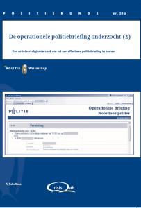 De operationele politiebriefing onderzocht (2) voorkant